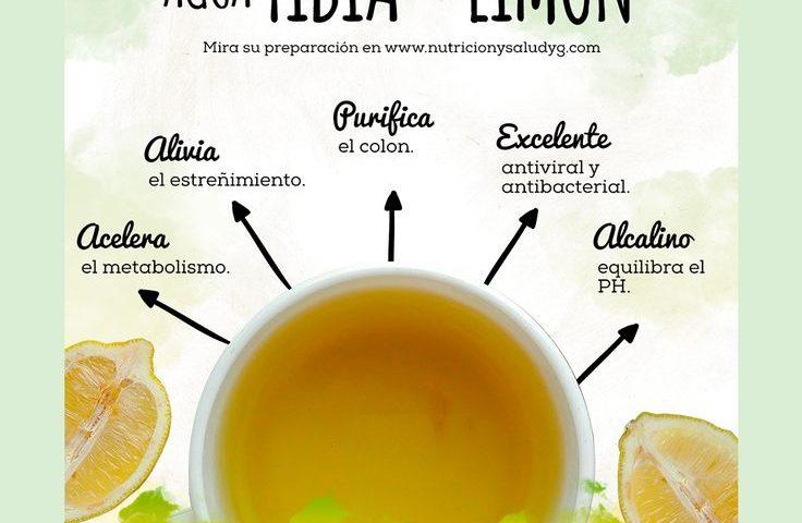 bajar de peso con agua tibia y limon